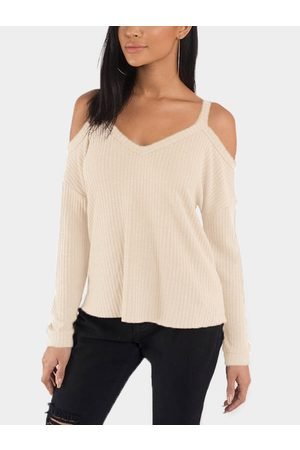 YOINS Cold Shoulder Long Sleeves Top with High Low Hem