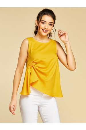 YOINS Twist Round Neck Sleeveless Tank Top