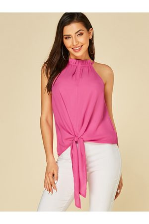 YOINS Knotted Design Halter Sleeveless Top