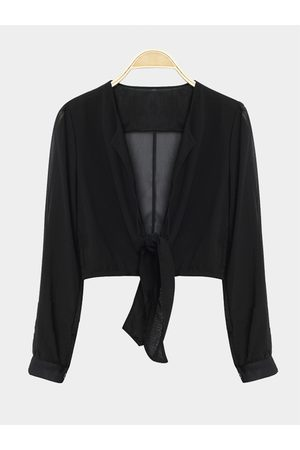 YOINS Long Sleeves Tie Front Sexy Crop