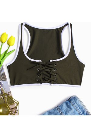 YOINS Sexy Lace Up Camis
