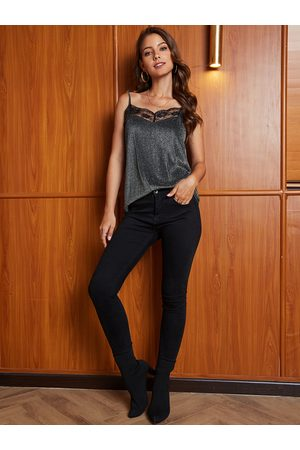 YOINS Lace Spaghetti Straps Cannetille Cami