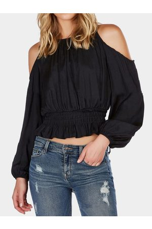 YOINS Fashion Cold Shoulder Long Sleeves Thic Blouse