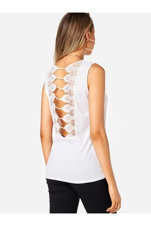 YOINS Lace Insert Cut Out Tank Top