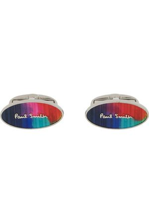 Paul Smith Logo print cufflinks