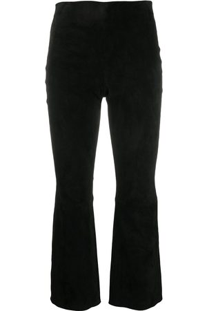 THEORY Flared cropped trousers