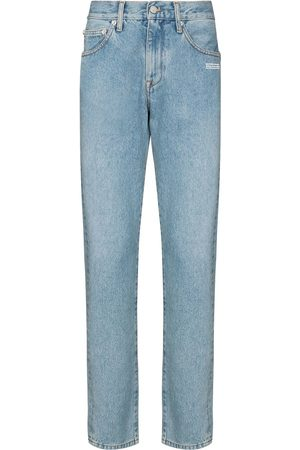 OFF-WHITE Diagonal pocket slim leg jeans