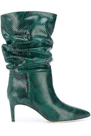PARIS TEXAS Snake effect ankle boots