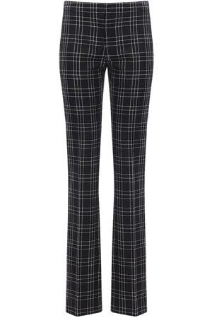 Alexander McQueen Welsh Check Wool Straight Leg Pants