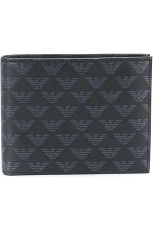 Emporio Armani Men Wallets - Monogram print leather wallet