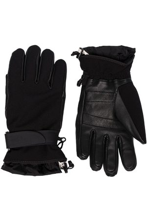 Moncler Leather and jersey gloves