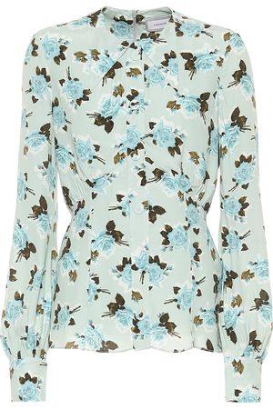 Erdem Zoey floral crêpe shirt