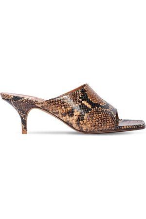 EMME PARSONS 50mm Sabine Snake Print Leather Sandals