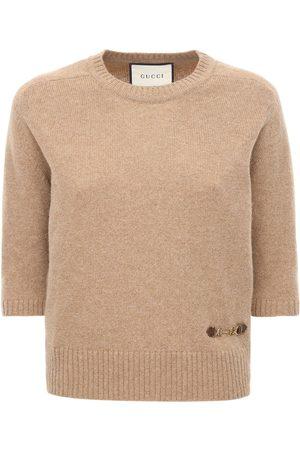 Gucci Cashmere Knit Top W/ Horsebit