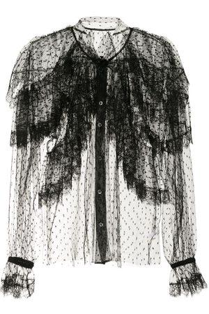 Dolce & Gabbana Point d'esprit ruffled shirt