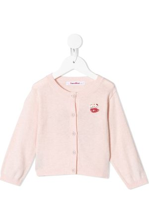 Familiar Teacup intarsia knit cardigan
