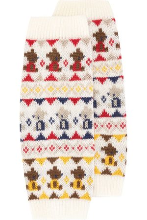 Familiar Jacquard knit ankle warmers