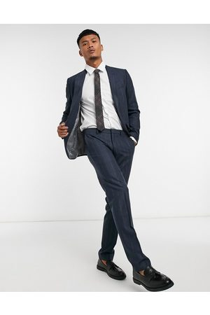 Shelby & Sons Slim suit trousers in pinstripe