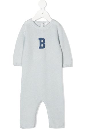 BONPOINT Intarsia logo knitted romper