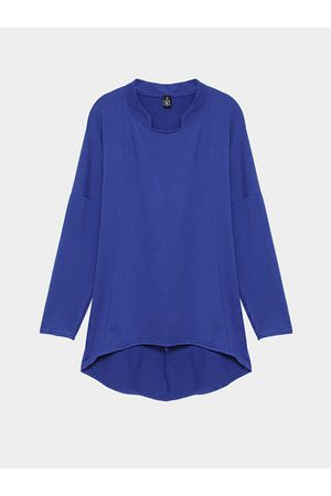 YOINS Plus Size Long Sleeve Top with Curved Hem in