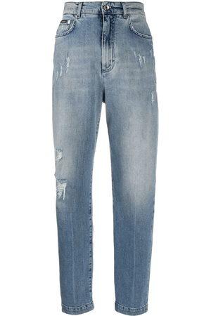 Dolce & Gabbana Ripped detail boyfriend jeans