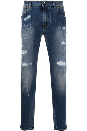 Dolce & Gabbana Distressed slim-fit jeans