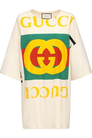 Gucci Oversize Printed Cotton T-shirt Dress