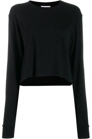 JOHN ELLIOTT Women Long Sleeve - Jersey long-sleeved cropped T-shirt