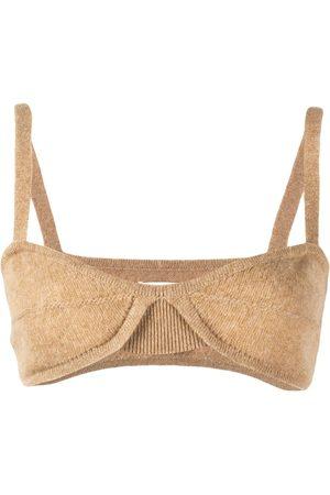 Khaite Women Balcony Bras - Eda cashmere bralette top