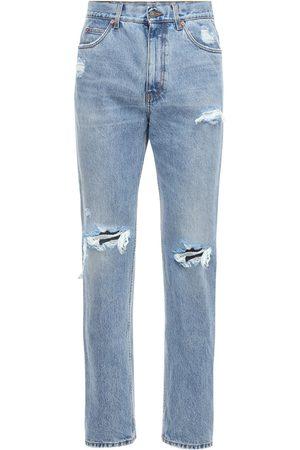 Gucci 21cm Destroyed Cotton Denim Jeans