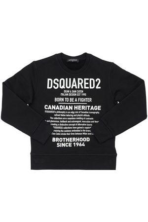 Dsquared2 Heritage Printed Cotton Sweatshirt