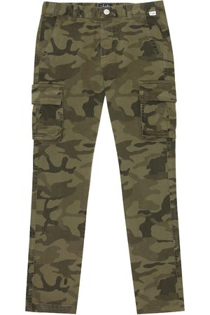 Il gufo Camo stretch-cotton pants