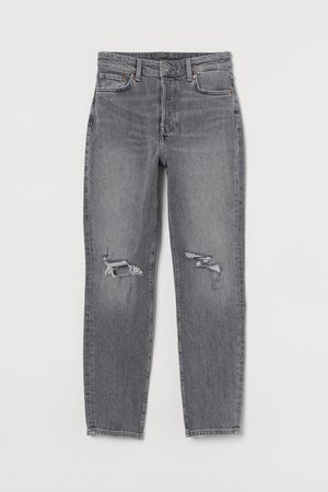 H&M Mom High Ankle Jeans - Grey