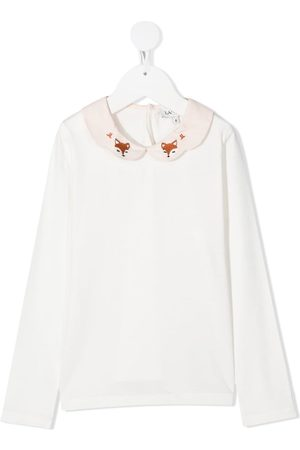 Lanvin Fox print collar top