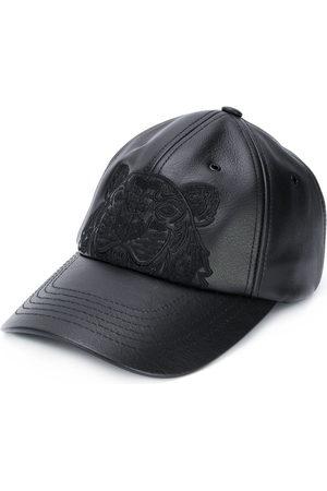 Kenzo Men Hats - Tiger motif leather cap