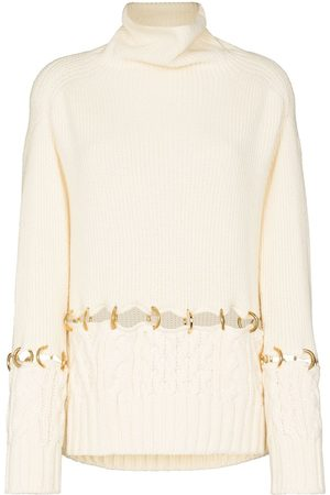 SACAI Ring detail wool sweater