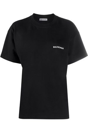 Balenciaga Women Short Sleeve - Logo-print T-shirt