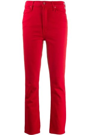Mother Cropped slim-fit jeans