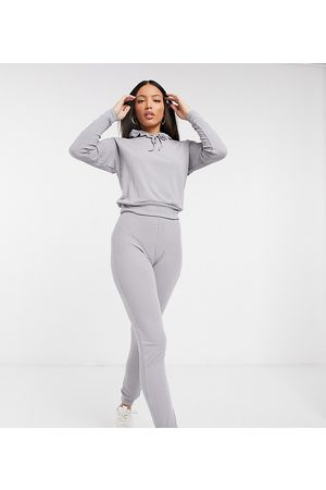 New Look Rib top and trouser set in