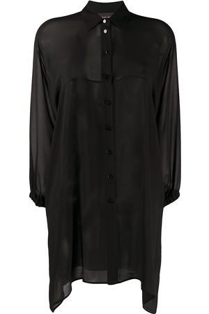 TALBOT RUNHOF Sheer long line blouse