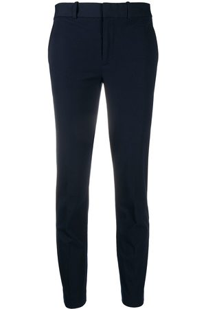 Polo Ralph Lauren Mid-rise cropped slim-fit trousers