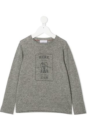 Brunello Cucinelli Long sleeve printed T-shirt