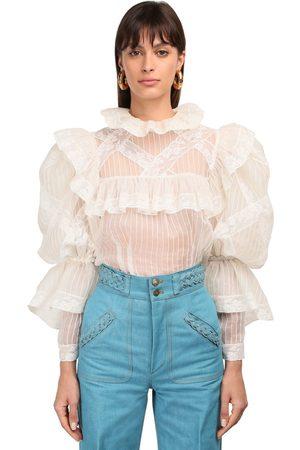 Marc Jacobs Ruffled Sheer Silk Organza Shirt