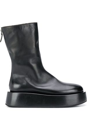 MARSÈLL Platform sole rear zip boots