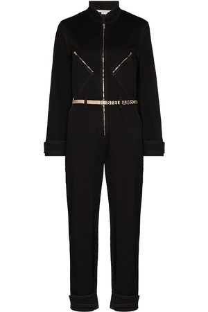 Stella McCartney Logo belt denim jumpsuit