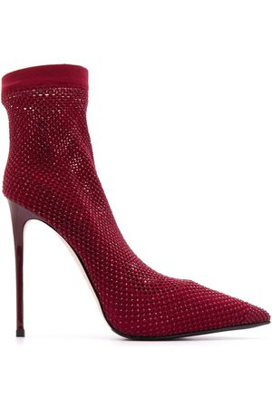 LE SILLA Women Pumps - Embellished sock stiletto pumps