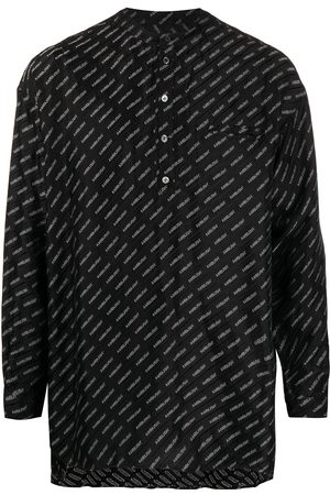 AMBUSH Logo jacquard band-collar shirt