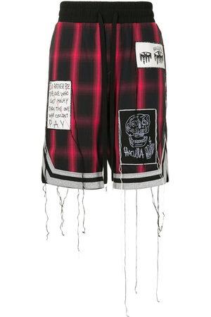 HACULLA Patch-detail plaid shorts
