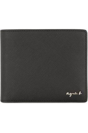 AGNÈS B. Bi-fold logo wallet