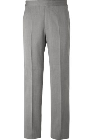 KINGSMAN Men Formal Trousers - Conrad Slim-Fit Herringbone Wool Suit Trousers